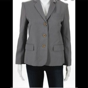 Marc Jacobs soft wool grey three button blazer 8